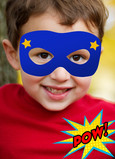 Superhero Mask Photo Birthday Card 5x7 Folded Card