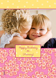Floral Photo Birthday Card 5x7 Folded Card
