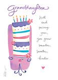 Granddaughter Birthday Cake 5x7 Folded Card