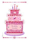 Butterfly Birthday Cake 5x7 Folded Card