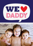 We Heart Daddy Photo 5x7 Folded Card