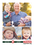 Grandpa = Love Multi-photo 5x7 Folded Card