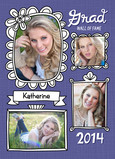 Grad Wall of Fame Frames 5x7 Folded Card