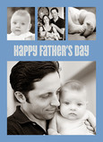 Blue Multi-photo Father's Day 5x7 Folded Card