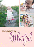 Daddy's Little Girl Multi-photo 5x7 Folded Card