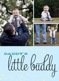 Daddy's Little Buddy Multi-photo 5x7 Folded Card