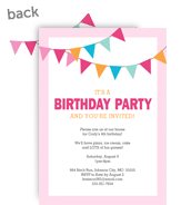 Birthday Bunting - Pink 5x7 Flat Card