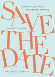 Large Type Design Save-the-date 5x7 Flat Card