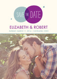 Circle Design Photo Save-the-date 5x7 Flat Card
