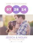 Graphic Circles Photo Save-the-date 5x7 Flat Card