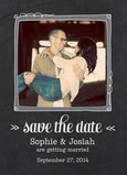 Chalkboard-style Photo Save-the-date 5x7 Flat Card