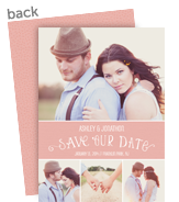 Lettering with Photos Save-the-date 5x7 Flat Card