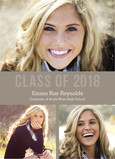 Class of 2018 Multi-photo Tan 5x7 Flat Card