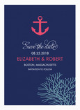 Nautical Design Save-the-date 5x7 Flat Card