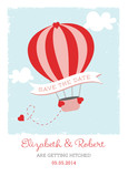 Hot Air Balloon Save-the-date 5x7 Flat Card