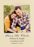 Washi Tape Photo Save-the-date 5x7 Flat Card