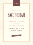 Vintage Ribbon Save-the-date 5x7 Flat Card