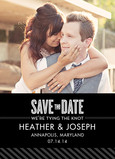 Classy Graphic Photo Save-the-date 5x7 Flat Card
