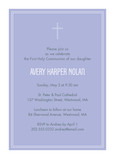 Lavender First Communion Invitation 5x7 Flat Card