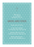 Aqua Dots Communion Invitation 5x7 Flat Card