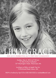 Color Block & Photo Communion Invite - Girl 5x7 Flat Card