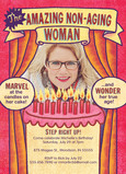 Non-aging Woman Birthday Invitation 5x7 Flat Card