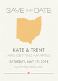 State Design Save-the-date 5x7 Flat Card