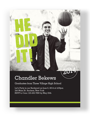 He Did It Photo Grad Invitation 5x7 Flat Card