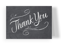 Chalkboard Grad Thank You 5.25x3.75 Folded Card