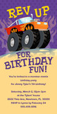 Monster Truck Birthday Invitation 4x8 Flat Card