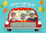 Birthday Clown Car from All of Us 7x5 Folded Card