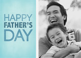 Blue Lettering Photo Father's Day 7x5 Folded Card