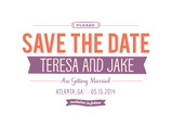 Bold Graphic Save-the-date 7x5 Flat Card
