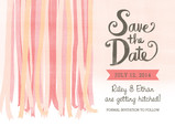 Watercolor Ribbons Save-the-date 7x5 Flat Card