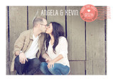 Postage Design Photo Save-the-date 7x5 Flat Card