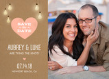 Heart Light Photo Save-the-date 7x5 Flat Card