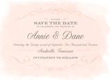 Classic Vintage Save-the-date 7x5 Flat Card