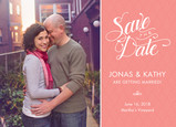 Script & Photo Save-the-date 7x5 Flat Card