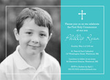 Photo Communion Invitation - Boy 7x5 Flat Card