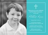 Photo Communion Invitation - Boy 7x5 Flat Card