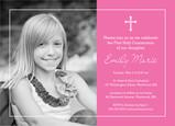 Photo Communion Invitation - Girl 7x5 Flat Card