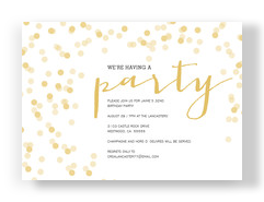 Script & Shimmer Party Invitation 7x5 Flat Card