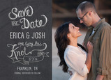 Chalkboard & Photo Save-the-date 7x5 Flat Card