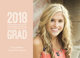2017 Photo Grad Peach 7x5 Flat Card