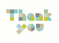 Modern Lettering Thank You 5.25x3.75 Folded Card