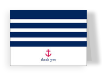 Nautical Theme Thank You 5.25x3.75 Folded Card