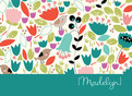 Floral Pattern Stationery 5.25x3.75 Folded Card