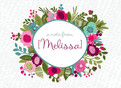 Floral Wreath Note Card 5.25x3.75 Folded Card