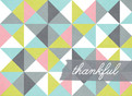 Geometric Pattern Thanks 5.25x3.75 Folded Card