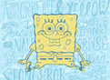Spongebob with Lettering 5.25x3.75 Folded Card